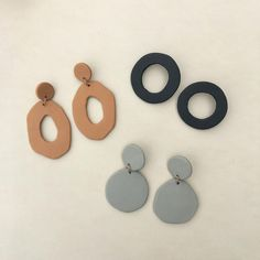 Leder acc s Schmuck Accessoires Online Dainty Jewelry, Statement Jewelry, Jewelry Accessories, Fashion Accessories, Jewelry Design, Teen Jewelry, Modern Jewelry, Boho Jewelry, Polymer Clay Earrings