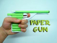 How To Make a Paper Gun that Shoots | DIY - YouTube