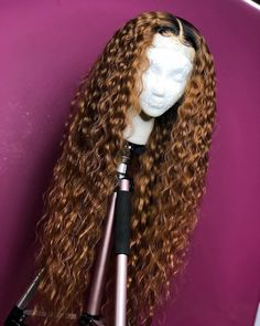 Riisca Lace Front Human Hair Wigs With Baby Hair Wavy Pre Plucked Ombre Color Brazilian Remy Hair Wigs For Women Bleach Knots,Human Hair lace wigs, Curly Lace Front Wigs, Straight Lace Front Wigs, Synthetic Lace Front Wigs, Curly Wigs, Long Curly Hair, Lace Wigs, Curly Hair Styles, Natural Hair Styles, Curly Braids