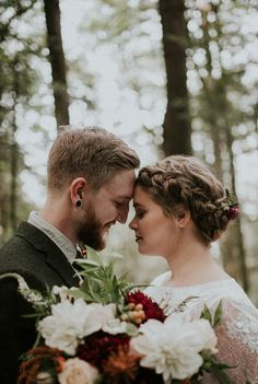 The fall wedding was inspired by the spirit of the Pacific Northwest | Image by Olivia Strohm Photography