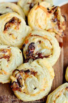 Caramelized Onion Cheesy Pinwheels -