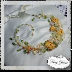silk ribbon embroidery | Silk Ribbon Embroidery Detail Custom Wedding Bag | Flickr - Photo ...