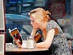 woman reading by Arie Azene Reading Art, Woman Reading, I Love Reading, Reading People, Reading Time, I Love Books, Good Books, My Books, Books Art