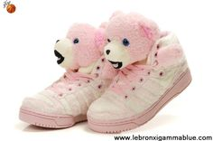 sports shoes a1068 e8c53 Latest Listing Discount Kids Adidas X Jeremy Scott Teddy Bear Shoes Pink  Basketball Shoes Shop
