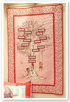 To make a Family Tree Quilt.. If ever I have the space & motivation.