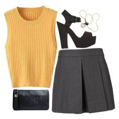 """""""Untitled #1386"""" by ibthal-hussain ❤ liked on Polyvore featuring Alexander Wang, Topshop and Moschino"""