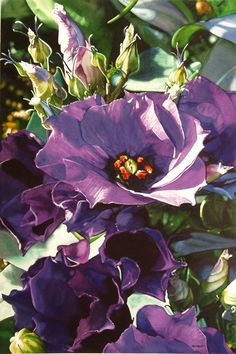 Floral painting by Marlin Rotach