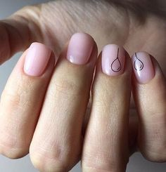 Baby Pink Gel Nails With Balloons #Summer #Manicure #NailArt