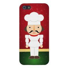 Adorable Nutcracker Chef - Happy Holidays iPhone 5 Case