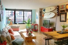 Féline and Ryan's Upper East Side Surf Lodge Style — House Call   Apartment Therapy