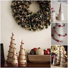 Kreativní nápady - DIY provazy a korálky vánoční stromky