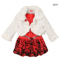 RED ROSE DRESS W. JACKET  Price: $29.99, Free Shipping Options: 2T, 4T, 6, 8