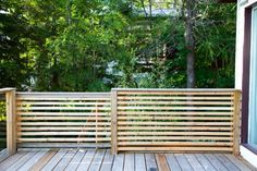 Horizontal slat fence - Cottage Life Magazine