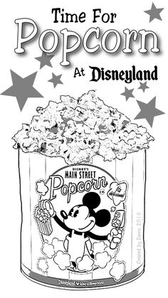 Mickey Popcorn Bucket Coloring Page