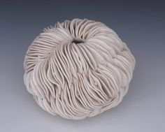 Textured Pottery Vase   White  Porcelain by WhiteEarthStudio.etsy.com