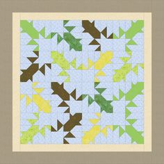 "Free epp Frog babyquilt idea, idea from QUILTMAKER 1990"", design epp Dorte Rasmussen Denmark"