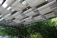 Diy Idea: Painters Tarp Canopy — Anything Pretty