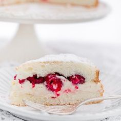 Torta Margherita z kremem i malinami Cannoli, Pavlova, Macaroons, Mojito, Ricotta, Vanilla Cake, Mango, Cheesecake, Recipes