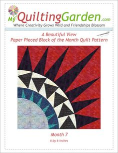 Paper Pieced Quilt Block Pattern New York Beauty by QuiltingGarden, $3.99