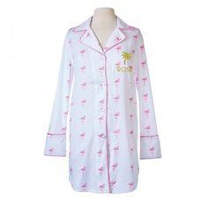 Personalized Pink Flamingo Night Shirt
