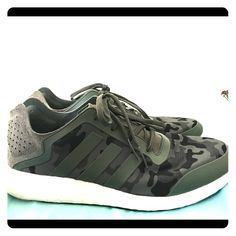 new style 4da6d 071e3 adidas Shoes   Adidas Camo Pure Boost (Men S Size 10.5) Worn Once   Color   Black Green   Size  10.5