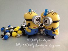 Stuart Minion - Despicable Me - Necklace  TOTALLY Gonna make one of these to match my earrings :)