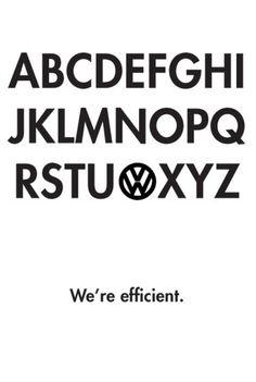 We're efficient.