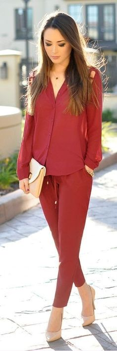 Pop Color Chic Outfits with Pumps   Spring Street ...
