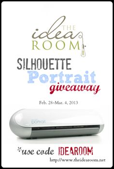 Visit http://www.theidearoom.net/2013/02/silhouette-portrait-giveaway-2.html for a chance to win a Silhouette Portait.