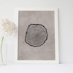 Add style to your home decor with this hand drawn black and brown wood cut art print.