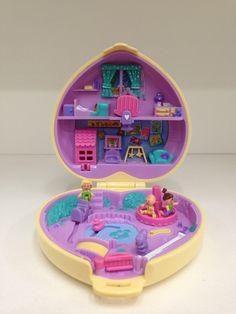 Polly Pocket Vintage Bluebird 1994 Strollin' Baby Complete w Dollhouse Door | eBay