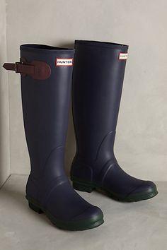 Anthropologie Hunter Original Contrast Rain Boots