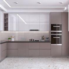 Galley Kitchen Design, Kitchen Room Design, Kitchen Cabinet Design, Modern Kitchen Design, Home Decor Kitchen, Interior Design Kitchen, Small Modern Kitchens, Modern Kitchen Interiors, Kitchen Modular