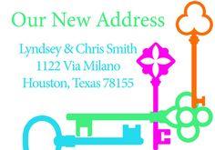 New Address Card. Digital File size 3.5 x 5 by GoToGirlSignDesigns, $15.00