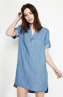 Velvet Heart Chambray Aisha Tunic Dress in Blue S - L | DAILYLOOK