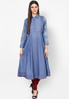 W-Cotton-Blue-Kurta