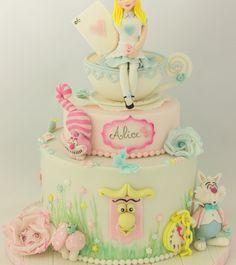Pretty Pastel Alice in Wonderland Cake
