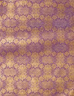 Lokta Far East Gold on Purple Fine Paper