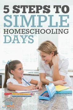 5 Steps to Simple Homeschooling Days - Simplicity in homeschooling is obtainable with these 5 steps.   www.joyinthehome.com