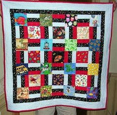 Quilting projects for kids i spy Ideas for 2019 Boy Quilts, Scrappy Quilts, Quilt Baby, Machine Quilting Patterns, Quilt Patterns, Block Patterns, Quilting Projects, Quilting Designs, I Spy Quilt