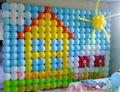 painel de balões peppa pig - Pesquisa Google
