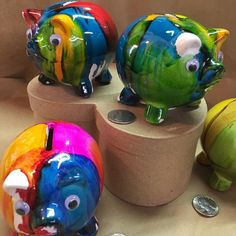 A personal favorite from my Etsy shop https://www.etsy.com/listing/108079609/small-ceramic-handpainted-piggy-banks