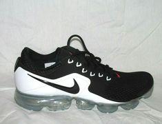 on sale 28207 0c4ef Nike Air Vapormax Mens Running Shoes 10 Black Metallic Silver White  Nike   RunningShoes Mens