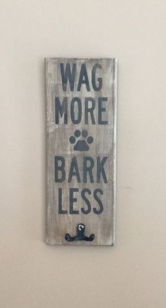 Leash hook Rustic Wooden Pet Decor Wooden Sign by Countrypawz
