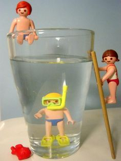 playmobil..always a great gift or a fun decoration for a swim party