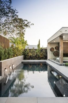 The Canterbury project is an entertainers delight. Combining a modern outdoor living space with a refurbished in ground concrete swimming pool. Swimming Pool Landscaping, Swimming Pool Designs, Palm Springs, Modern Outdoor Living, Moderne Pools, Pool Landscape Design, Pool Fashion, Backyard Pool Designs, Hollywood Homes