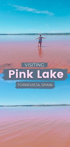This detailed guide to Torrevieja Pink Lake in Spain is packed with necessary information on how to get there, important info you need to know, history of Las Salinas de Torrevieja, etc spain pink lake | alicante spain pink lake | torrevieja spain pink lake | spain pink salt lake | pink lake in spain | pink lakes spain | the pink lake of torrevieja | pink salt lake torrevieja Europe Destinations, Europe Travel Tips, Travel Goals, Travel Guides, Backpacking Europe, Road Trip Europe, Spain And Portugal, Portugal Travel, Torrevieja Spain