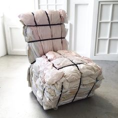 A Rag chair made from old wedding dresses at Droog * Deco Findings * The Inner Interiorista