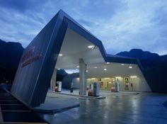 Viamala Rastätte service station in Switzerland by Iseppi Kurath