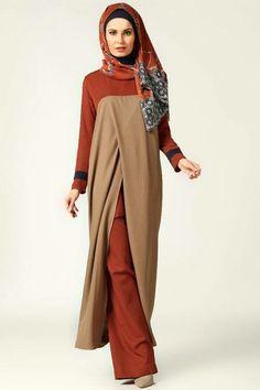 Wrap Sleeveless Tunic - Minc - Tuva By Burcu Aslan … Abaya Fashion, Modest Fashion, Fashion Outfits, Hijab Chic, Modest Outfits, Modest Wear, Moslem Fashion, Modele Hijab, Hijab Trends